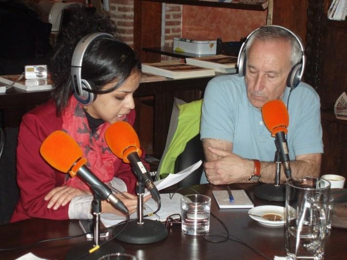 Ebbaba Hameida y Eugenio Pordomingo
