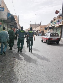 Guardias Civiles en el Sáhara Occidenta ocupado