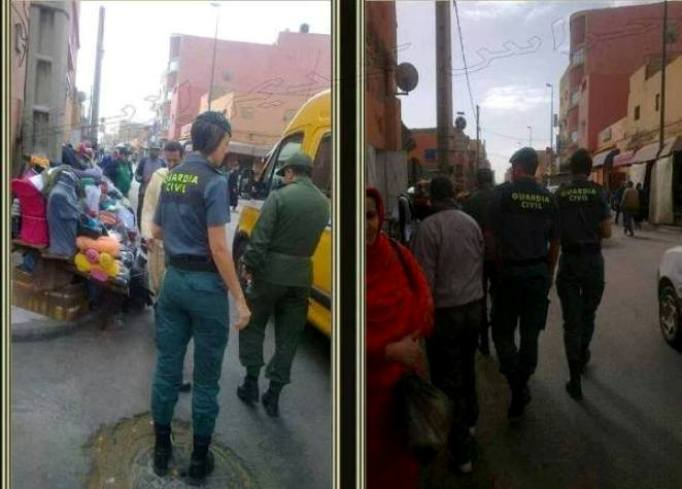 La Guardia Civil en El Aaiún (Sáhara Occidental ocupado)