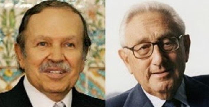 Abdelaziz Buteflika y Henry  Kissinger