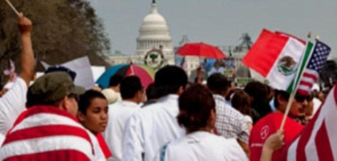 Protestas en Estados Unidos. Foto color.lines.com