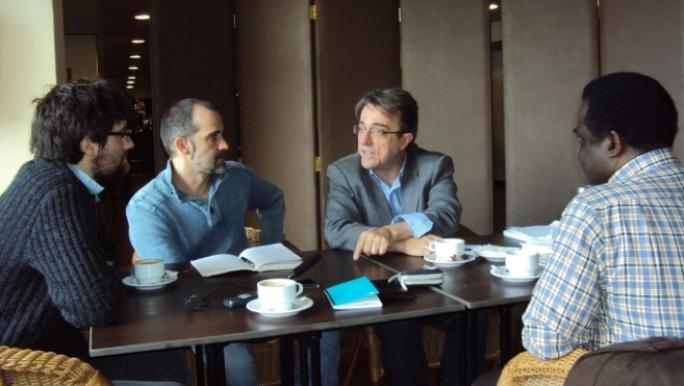 Hector Juanatey, David Bollero, Javier Martinez y Weja Chicamo en la Tertulia