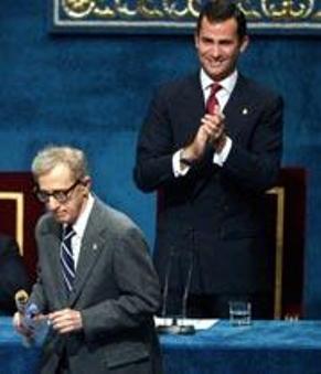 Woody Allen, Premio Príncipe de Asturias de las Letras 2002
