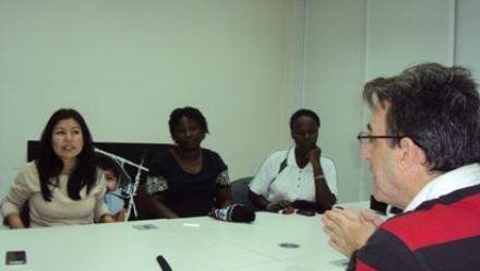 Javier Martínez entrevista a responsables de World Vision