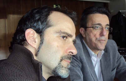 David Bollero y Javier Martínez en la Tertulia Espacios Europeos
