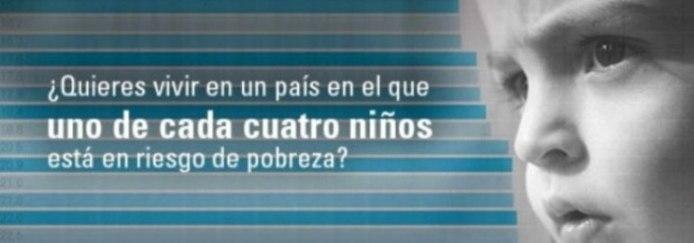Campaña de UNICEF contra la pobreza infantil en España