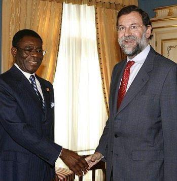 Teodoro Obiang Nguema y Mariano Rajoy