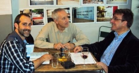 David Bollero, Eugenio Pordomingo y Javier Martínez
