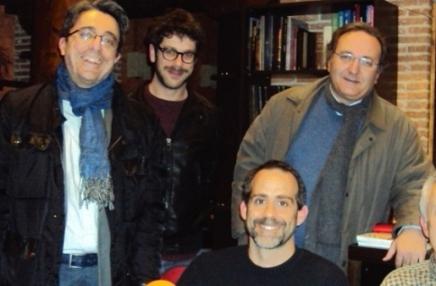 De izquierda a dereha, Javier Martínez, Sato Díaz, David Bollero y Javier Castro-Villacañas Foto de archivo.