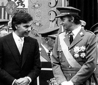 Felipe González y el Rey Juan Carlos