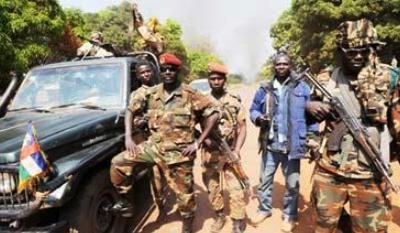 Guerrilleros del grupo islamista Seleka