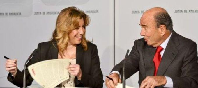 Susana Diaz y Emilio Botín