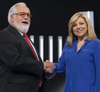 Arias Cañete y Elena Valenciano