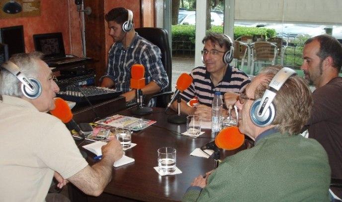 De izquierda a derecha, Jesús Riosalido, Eugenio Pordomingo, Alfredo  Matarranz (técnico), Javier Martínez y David Bollero