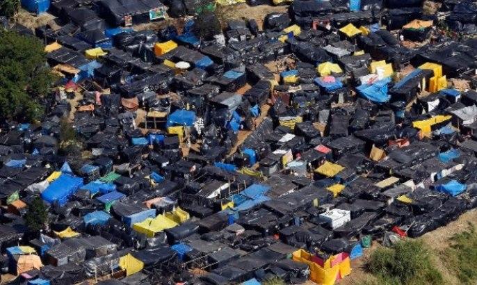La otra cara del Mundial de Fútbol de Brasil: aquí viven los trabajadores sin techo.