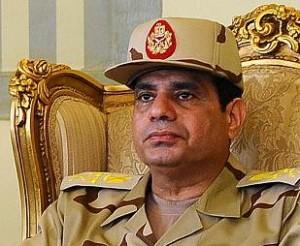 Abdelfatah al Sisi ha l, lider del golpe militar en Egipto y actual presidente