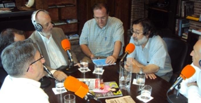 De izquierda a derecha, Javier Martínez, David Bollero, José Manuel González Torga, Javier Castro-Villacañas, Jesús López y Eugenio Pordomingo