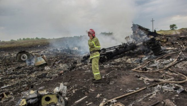 Avión malayo siniestrado. Foto RIA Novosti
