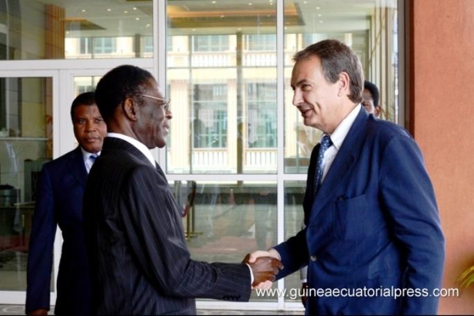 """Audiencia de Obiang a Zapatero en su """"viaje de negocios"""": Foto Gobierno de la República de Guinea Ecuatorial"""