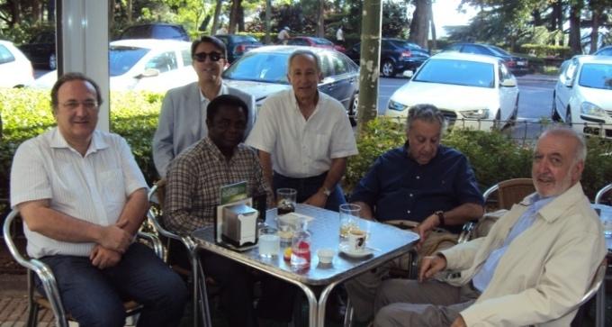 De izquierda a derecha, Javier Castro-Villacañas. Weja Cjicampo, Javier Martínez, Eugenio Pordomingo, Javier Perote y José Manuel González Torga