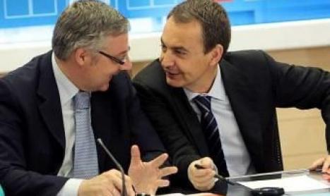 El parlamentario europeo, José Blanco, y el ex presidente del Gobierno de España,  José Luís Rodríguez Zapatero