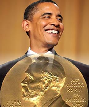Obama recibiendo el Premio Nobel de la Paz