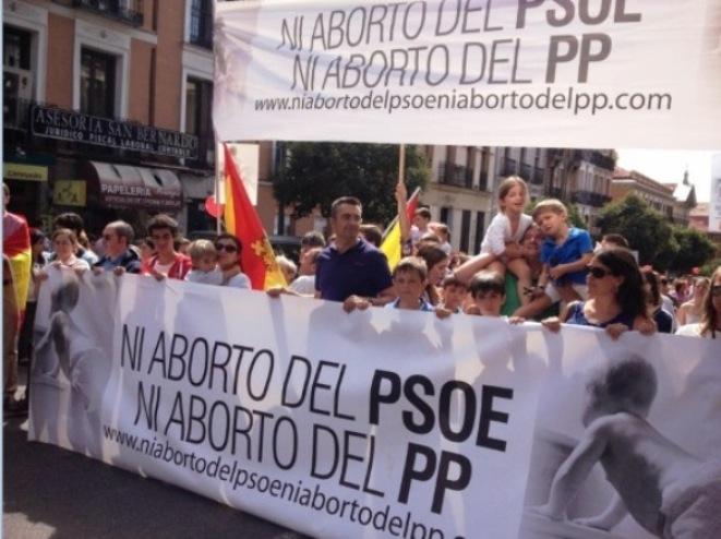 V Marcha contra el Aborto en Madrid