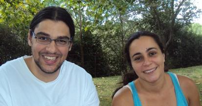 Lorenzo García Martín y Raquel  Almendros, licenciados y parados.