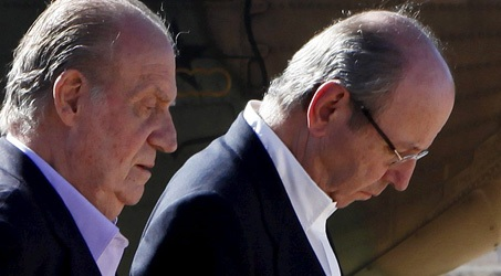 El Rey Juan Carlos I y Rafael Spottorno