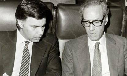 Felipe González y Miguel Boyer