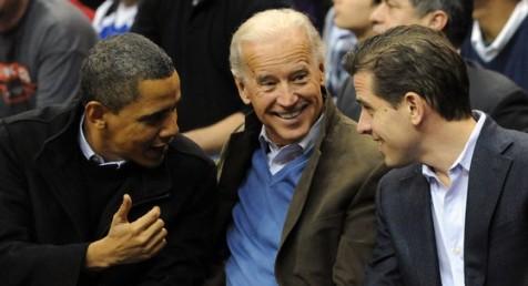 Obama con los Biden, papé e hijo