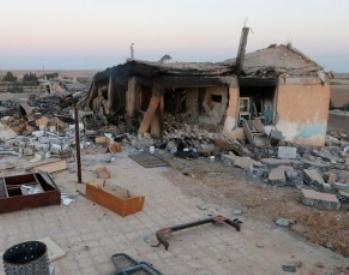 """Escuela Infantl en la Ciudad de Homs (Siria), bombardeada por los """"rebeldes""""."""