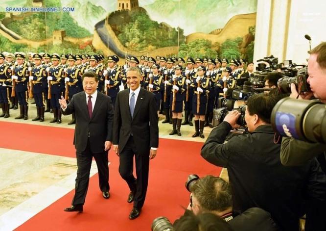 Encuentro Xi Jinping y Baracak Obama en China. Foto spanish.xinhuanet.