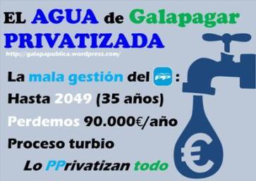 En contra de la privatización del agua en la localidad de Galapagar