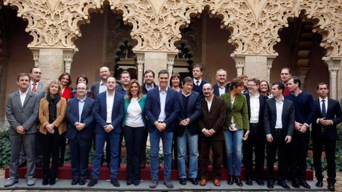 Reunión del PSOE en Zaragoza. Foto PSOE.