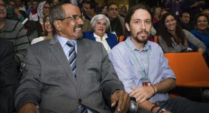 Mohamed Abdelaziz y Pabli Iglesias en la EUCOCO