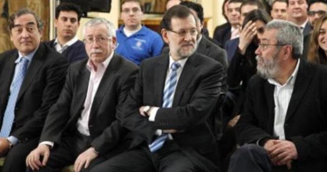CEOE, UGT y CC.OO. con Rajoy.