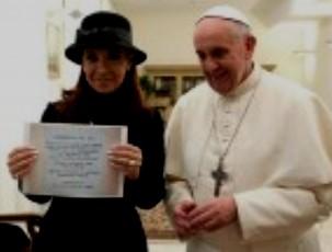 Cristina Fernández de Kirchner y el Papa Francisco