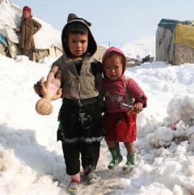 Niños desplazados