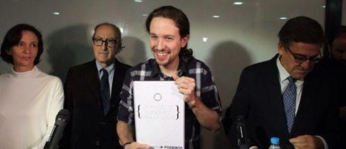 Carolina Bescansa, Vicenç Navarro, Pablo Iglesias y Juan Torres
