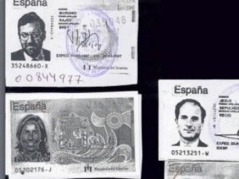 Los DNI de Mariano Rajoy, Ana Mato y Jesús Sepúlveda