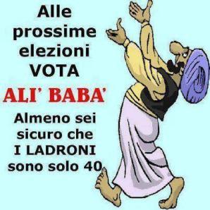 """Cartel """"antipolítico"""" que se hizo visible en las elecciones italianas."""