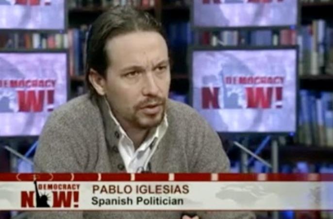 Pablo Iglesias, entrevistado en la cadena Democracy Now