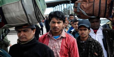 TRabajadores de nepal