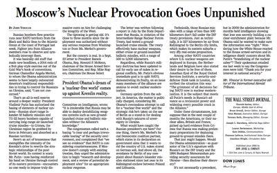 Ejemplo de artículo anti-ruso en el Wall Street Journal (edición del 4 de noviembre de 2014)