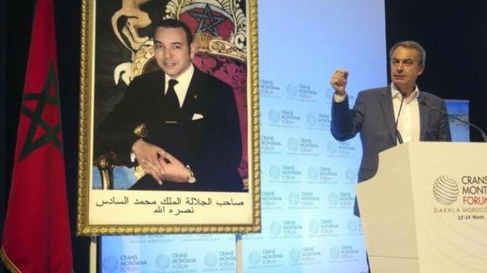Zapatero en el Foro Crans Montana, organizado por Marruecos, que se celebra en la ciudad ocupada de Dajla