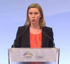 Federica Mogherini,, Alta Representante para la Política Exterior de la UE..