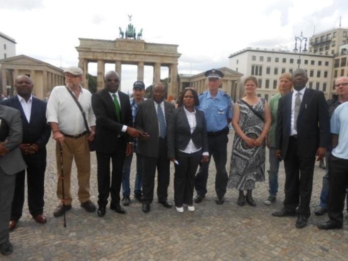 Opositores guineanos en Alemania (Foto de Archivo).