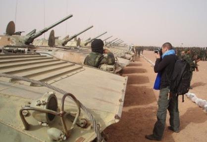 Unidades del II Regimiento de Fuerzas Blindadas y de Artillería del Ejercito Saharaui