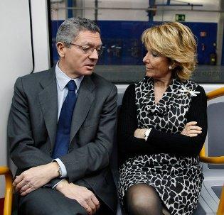 Alberto Ruiz-Gallardón y Espereanza Aguirre